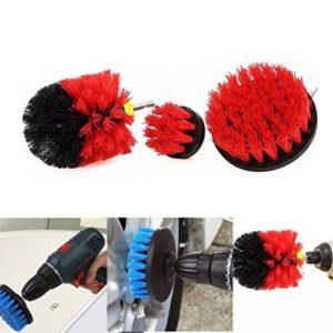 Accrie Electronics Lot de 3 brosses de nettoyage pour carrelage et coulis Rouge