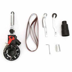 Adaptateur de ponceuse à bande, adaptateur de tête de ponçage de mini ponceuse à bande pour meuleuse d'angle électrique pour le soudage des métaux(M10)