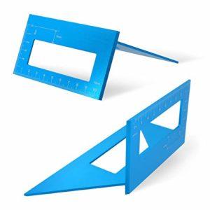 Alician Règle carrée 45 à 90 degrés en Alliage d'aluminium pour Le marquage d'angle