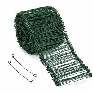 Amagabeli 1.4MM X 16CM X 1000 Pieces Liens a Boucle Vert pour Lieuse Automatique Couramment Utilisé pour Sceller Les Sacs et Sacs Tissés la Construction ou la Reliure Quotidienne