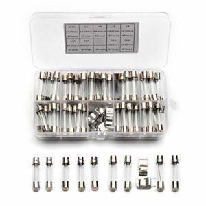 ASWM 72PCS 6x30mm Fusible Rapide en Tube de Verre à Fusion Rapide avec Porte-fusible 0.5A / 1A / 2A / 3A / 5A / 10A / 15A / 20A / 30A Kit d'assortiment
