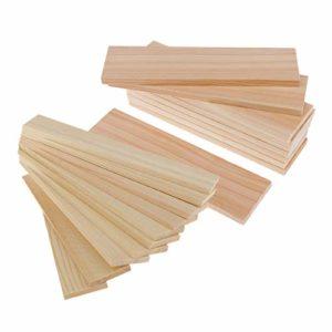 Baoblaze Paquet De 20 Baguette En Bois Woodcraft Décoration en Bois à La Maison