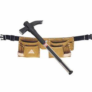 Bellota 8030 Ceinture porte-outils en cuir rétractable et marteau rétractable aimanté