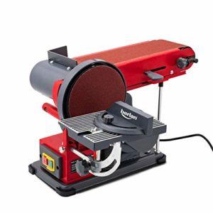 Berlan Ponceuse à bande et à disque BBTS350 – 350 W / ponçage horizontal et vertical / bande abrasive : 915 x 100 mm / plateau de ponçage : Ø 150 mm