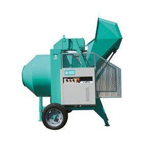 Bétonnière hydraulique BIO 400 avec pelle tractée IMER capacité 400 litres