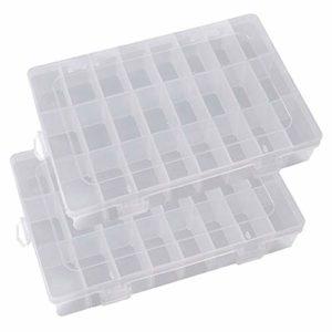 Boîtes en Plastique, Boîte à Outils avec Bacs Amovibles Compartiment de Stockage Boîte à Outils à Nourriture Coque, Boîte à Bijoux Organiseur pour Ongles, Strass, Perles, Artisanat