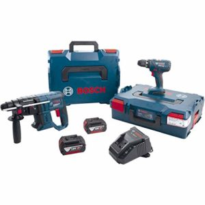 Bosch 0615990K3Z GSR Batterie 18 V-28 + GBH 18 V-20 18 V 4 Ah (IEC) Li-Ion 7 pièces