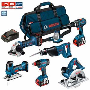 Bosch Kit PSB7MXM3B Professional (GWS 18 V-LI + GSB 18 V-LI + GST 18 V-LI S + GDX 18 V-LI + GKS 18 V-LI + GSA 18 V-LI + GLI VariLED + 3 x 4,0Ah + LBAG)