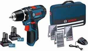 Bosch Professional GSR 12V Lot de 15+ 2x 4,0Ah en sac, 1, 0615990hv1