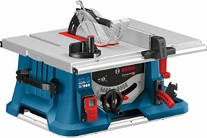 Bosch Professional Scie sur table GTS 635-216 (1600 W, Ø de la lame : 216 mm, Hauteur de coupe (90°) : 70 mm, Boîte carton)