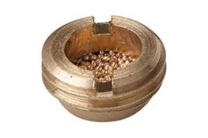 Bronze fritté de silencieux, modèle plat, avec filetage extérieur