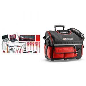 BSR20.EM41A Sélection électromécanique 120 outils plus boîte à outils textile à roulettes
