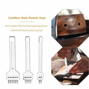 Casecover 3pcs De Cuir Perforateurs Brochage Outil De Fer pour Barbed Ceinture en Cuir Perforateurs Croisement