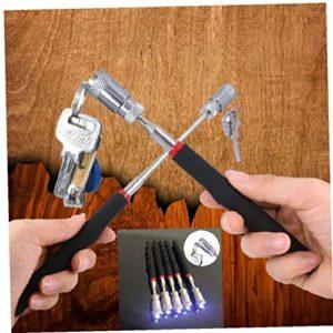 Casecover Bâton Néodyme Imanes LED Pick Up Outil Télescopique Outil Magnétique pour Ramasser Les Écrous Les Boulons