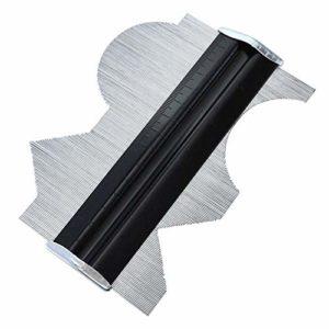 Contours Jauge de Profil en métal Duplicateur de Forme irrégulière de Mesure de Bord de traçage modèle Multifonction de Travail du Bois, 15,2 cm
