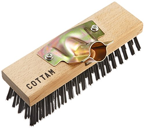 Cottam iwi00055sur fil en acier robuste Tête de balai avec dos en bois et zinc plaqué Socket–en bois