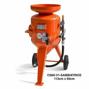 cs60-v1cassasabbia 60L 113x 60cm tube abrasif D.16x 30de Mt. 10raccordato, buse, tamis, capuchon floscio M01pression max: 8bar