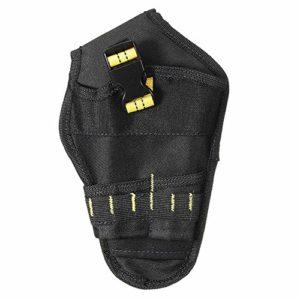 Cutogain Étui de ceinture robuste Porte-visseuse Sacoche de ceinture perceuse Sacoche de rangement pour outils