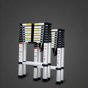 DASEXY Multifonctionnel échelle télescopique en alliage d'aluminium articulé extensible for la maison polyvalente pliante Escabeau portable Idéal pour les combles