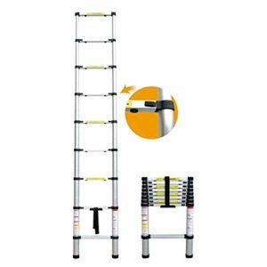 DASEXY Télescopique en aluminium Échelles en alliage d'aluminium Épaississement Chevrons échelle portative échelles télescopiques ménagers (3.8m) Idéal pour les combles