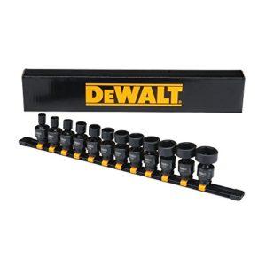 DeWALT 12pièces Impact 3/8drive universel SAE Lot