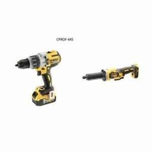DEWALT CPROF445 CPROF445-KIT XR = DCD996P2 Taladro XRP Con 2 baterías Li-ION 5,0Ah + DCG426N Amoladora recta Sin escobillas