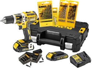 DeWalt DCK795S2T-QW Perceuse visseuse percussion compact 18V XR/ 1, 5Ah avec malette TSTAK et accessoires