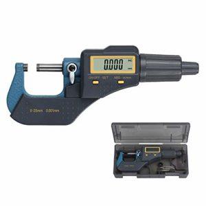 Digital MICROMETRE 0–2,5 cm Digital externe Jauge électronique avec Absolute et modes de Incrémentielles Micromètre d'extérieur numérique inch/métrique Mesure