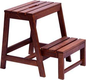 Dobar stable Tabouret pliant en bois FSC, 53/39x 38x 45cm, marron foncé, 29731FSC, 1pièce