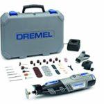 Dremel 8220 – Outil Rotatif Multifonction Sans-fil 12V avec 2 Adaptations et 45 Accessoires, Vitesse Variable 5.000-35.000 tr/min pour Découper, Poncer, Percer, Nettoyer, Meuler, Sculpter, Graver