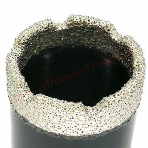 EASTAR mèches à diamant sec pour meuleuse d'angle, perçage à sec en porcelaine, céramique, carrelage, granit, marbre, pas besoin d'eau, pour meuleuse d'angle M14 (Dia.43mm)
