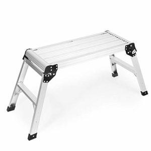 Échelle en alliage d'aluminium, échelle pliable/tabouret à deux marches pour la décoration de la maison échelle/installation d'installations extérieures tabouret