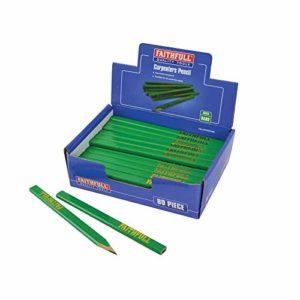 Faithfull CPDISPG80 Lot de 80 crayons de charpentier Vert/dur Multicolore