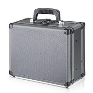 Festnight Boîte en Aluminium Valise de Rangement d'Accessoires sécurisée et Solide 33.5 * 18 * 30cm