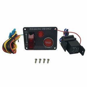 FHJZXDGHNXFGH Kit d'interrupteur d'allumage de démarrage de qualité pour avions de course pour voiture de course (couleur: grain de fibre de carbone)