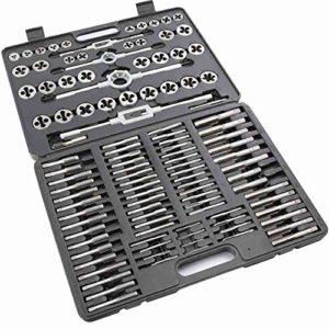 Frantools Outil de Taraudage et Filetage Kit de Tap Métrique et Meurent Fixés Pro 110 PC Tungstène