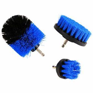 Gaocunh Brosse de nettoyage pour perceuse électrique – Idéal pour nettoyer le carrelage de piscine, le sol, la brique, la céramique, le marbre et le coulis, Blue set