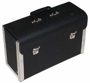 Global Material Opomat Valise Porte-Outils Noir sans paroi intermédiaire Dimensions 420 x 155 x 255 mm