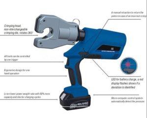 Gowe Batterie outils à sertir pour câble à sertir Jusqu'à 240mm²