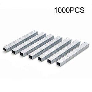 GreceMonday 1000Pcs 1008J Porte en Forme de Staples 11.3 * 1.2mm Clous Agrafeuse Argent Agrafeuse