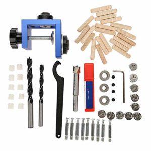 Guide de perçage – Kit de gabarit de perçage pour guide de perçage en bois Outil de positionnement de menuiserie pour le bois avec coupe-trou