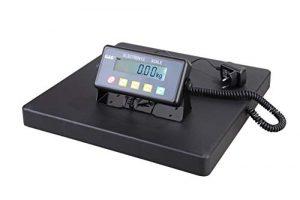 GundG Paketwaage PSB Balance pèse-colis numérique avec surface de pesage en fonte d'aluminium 40×40cm 75kgx20g//5kgx10g