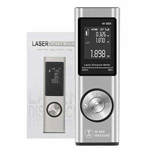 GXLX Mini Télémètre Laser 80m Portable Laser Numérique Mesure de Calcule Distance Surface Volume/Fonction Pythagore/LCD Rétro-éclairage/Rechargeable