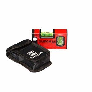 Handler 771 CHECK Mini Niveau à bulle magnétique avec poche 10 cm