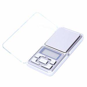 Haude Haute precision Digital Balance electronique de poche Bijoux pesage balance portable 200g / 0,01 g Fonction de comptage LCD bleu g/tl/oz/ct