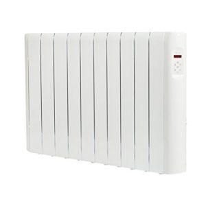 Haverland RCE10S – Radiateur électrique à inertie fluide caloporteur 1500 W, design compact, utilisation 1-6h/jour, +/- 17-24 m², Blanc
