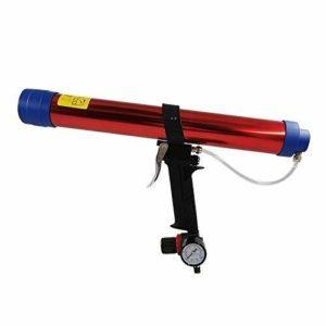 HYY-AA Haute résistance cartouche pistolet à colle, colle verre pneumatique Gun, anti-débordement conception d'outils à main de qualité industrielle multifonction et ergonomique