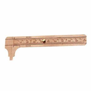 iplusmile Pied à coulisse à coulisse en laiton 0-80 mm Double balance de mesure antique Mini étrier de poche coulissante pour mesurer les bijoux, 9.7 * 3.8 * 0.3cm, Image 1
