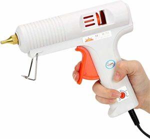 JDJD 110W Haute Professionnel thermofusibles Pistolet à Colle avec température réglable et buse Anti-Goutte pour l'artisanat de Bricolage Arts, Accueil de réparation