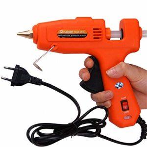 JDJD Pistolet à Colle Chaude,Pistolet à Colle thermofusible, Pistolet à Colle Professionnel 100W, pour Le kit de réparation de Bricolage de Chauffage